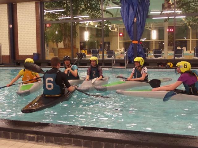 Zwembad polotraining